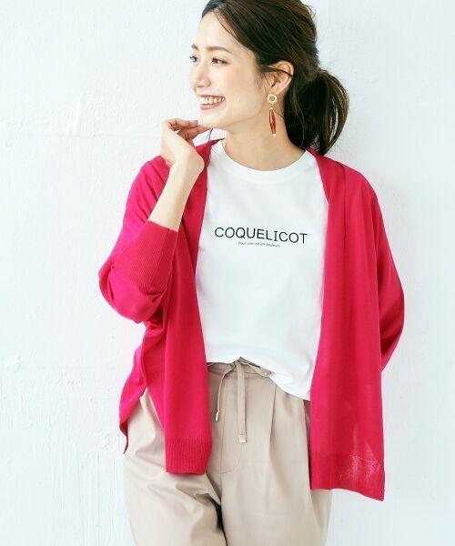 le.coeur blanc / ルクールブラン Tシャツ | ロゴプリントクルーTシャツ(オフ)
