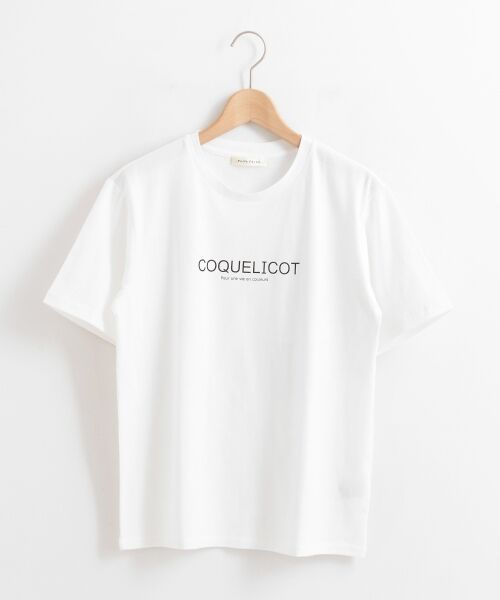 le.coeur blanc / ルクールブラン Tシャツ | ロゴプリントクルーTシャツ | 詳細5