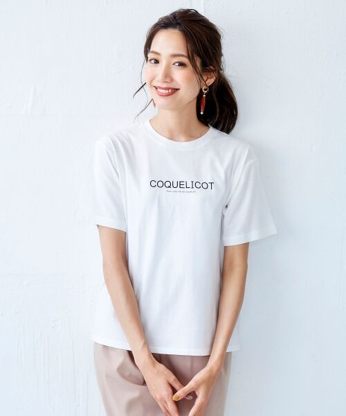 le.coeur blanc / ルクールブラン Tシャツ | ロゴプリントクルーTシャツ | 詳細6