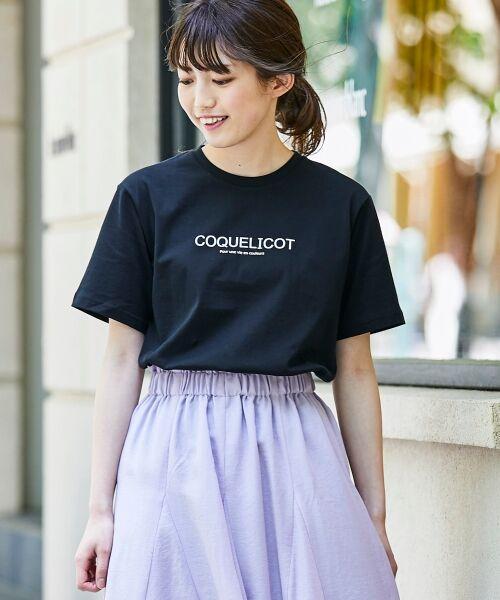 le.coeur blanc / ルクールブラン Tシャツ | ロゴプリントクルーTシャツ(ブラック)