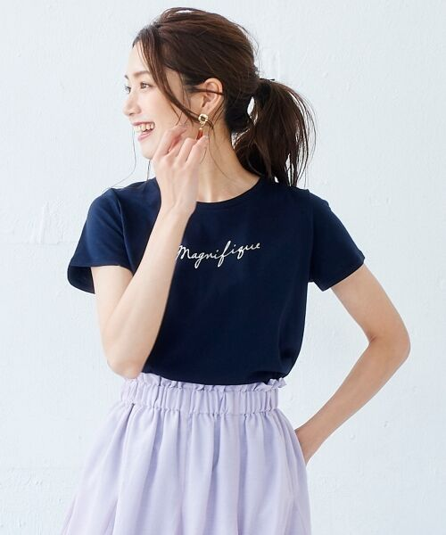 le.coeur blanc / ルクールブラン Tシャツ | ロゴプリントTシャツ | 詳細9