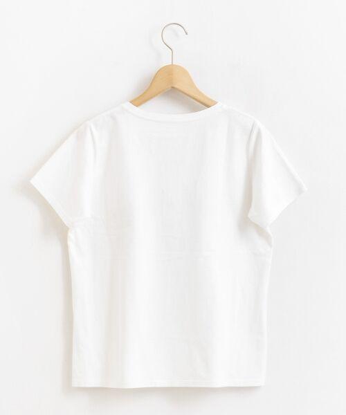 le.coeur blanc / ルクールブラン Tシャツ | ロゴプリントVネックTシャツ | 詳細1