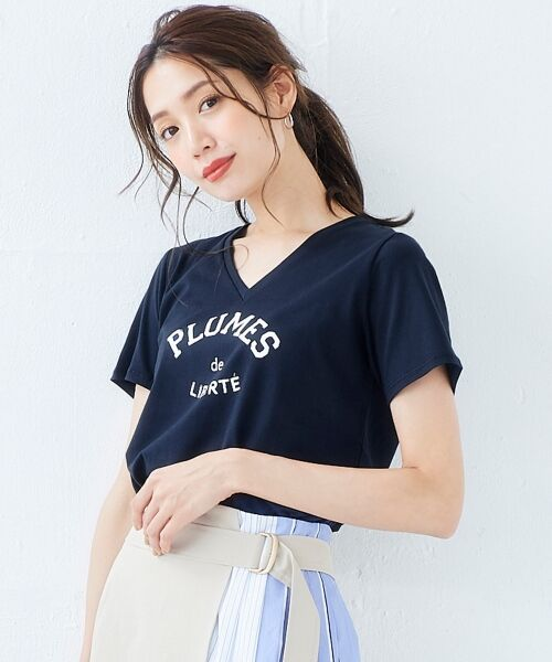 le.coeur blanc / ルクールブラン Tシャツ | ロゴプリントVネックTシャツ | 詳細11