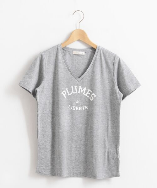 le.coeur blanc / ルクールブラン Tシャツ | ロゴプリントVネックTシャツ | 詳細13