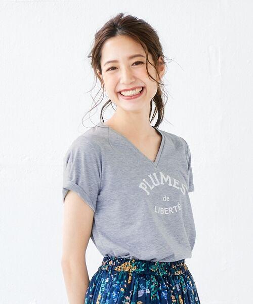 le.coeur blanc / ルクールブラン Tシャツ | ロゴプリントVネックTシャツ | 詳細17