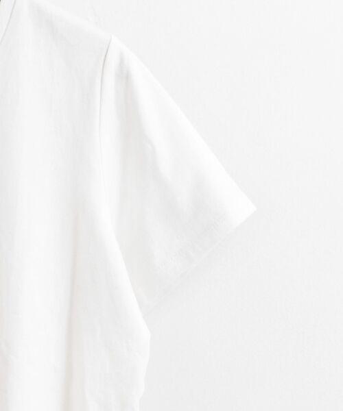 le.coeur blanc / ルクールブラン Tシャツ | ロゴプリントVネックTシャツ | 詳細3