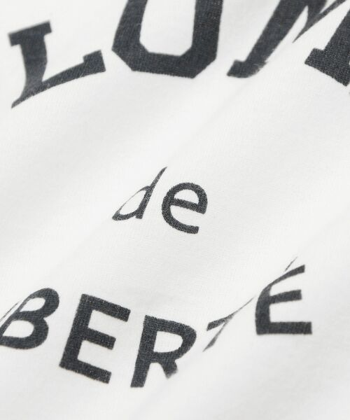 le.coeur blanc / ルクールブラン Tシャツ | ロゴプリントVネックTシャツ | 詳細4