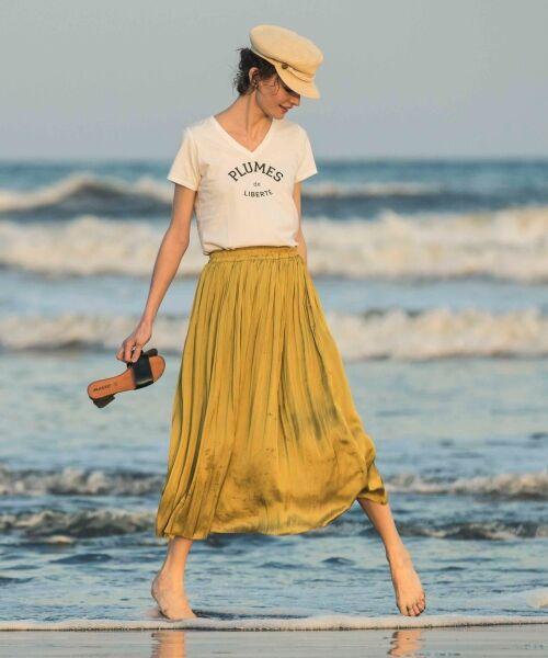 le.coeur blanc / ルクールブラン Tシャツ | ロゴプリントVネックTシャツ | 詳細6