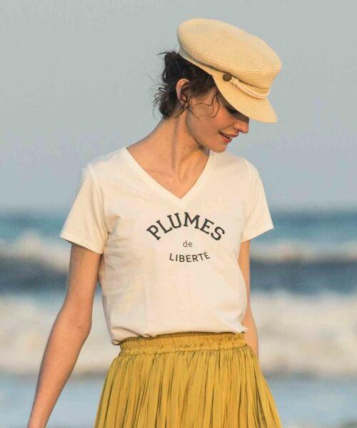 le.coeur blanc / ルクールブラン Tシャツ | ロゴプリントVネックTシャツ | 詳細7