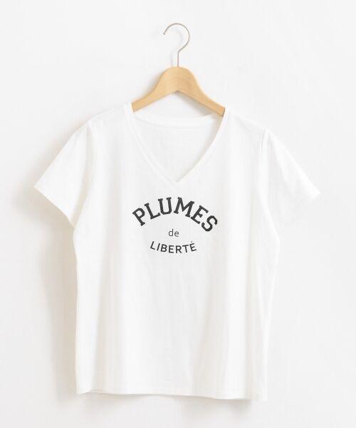 le.coeur blanc / ルクールブラン Tシャツ | ロゴプリントVネックTシャツ | 詳細8