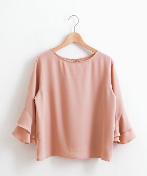 le.coeur blanc / ルクールブラン シャツ・ブラウス | 2wayフリルスリーブブラウス(ピンク)