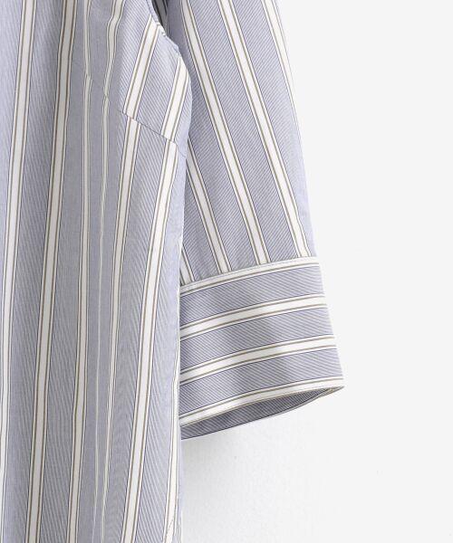 le.coeur blanc / ルクールブラン シャツ・ブラウス | ロールカラー7分袖ブラウス | 詳細3