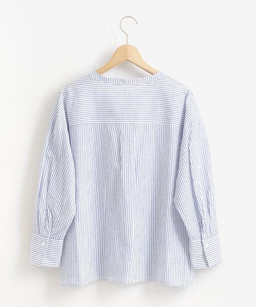le.coeur blanc / ルクールブラン シャツ・ブラウス | リネンノーカラーシャツ | 詳細1