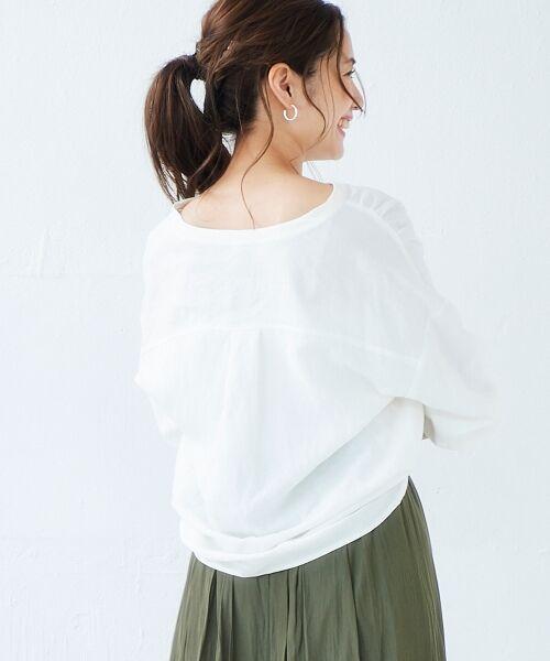 le.coeur blanc / ルクールブラン シャツ・ブラウス | リネンノーカラーシャツ | 詳細10