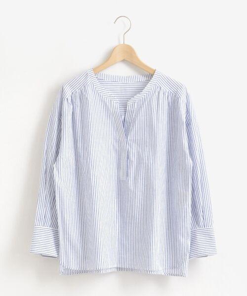 le.coeur blanc / ルクールブラン シャツ・ブラウス | リネンノーカラーシャツ | 詳細15