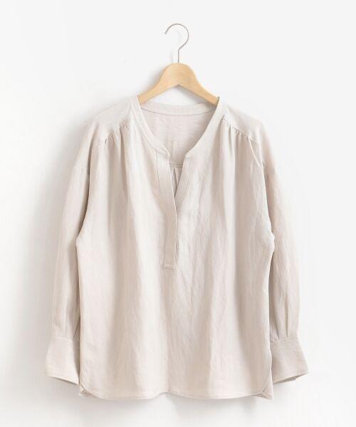 le.coeur blanc / ルクールブラン シャツ・ブラウス | リネンノーカラーシャツ | 詳細21
