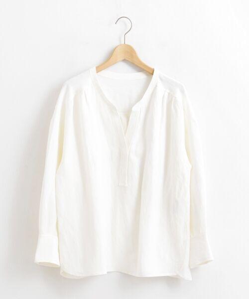 le.coeur blanc / ルクールブラン シャツ・ブラウス | リネンノーカラーシャツ | 詳細6