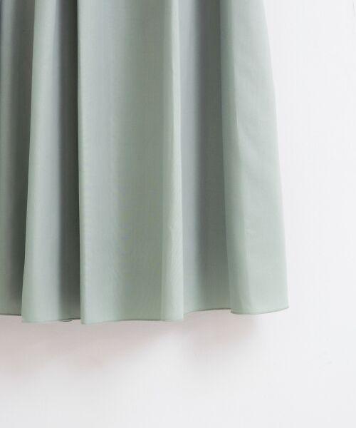 le.coeur blanc / ルクールブラン ミニ・ひざ丈スカート | マイクロスパンタックフレアスカート | 詳細4