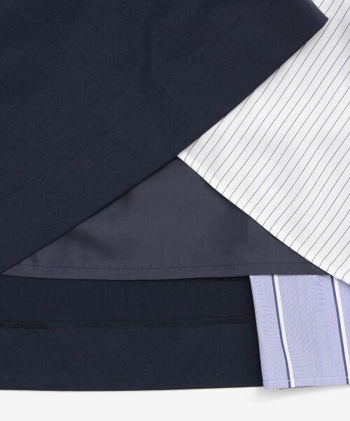le.coeur blanc / ルクールブラン ミニ・ひざ丈スカート   ストライプ切替ベルト付スカート   詳細6