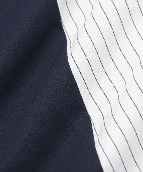 le.coeur blanc / ルクールブラン ミニ・ひざ丈スカート   ストライプ切替ベルト付スカート   詳細7