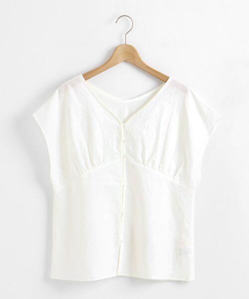 le.coeur blanc / ルクールブラン シャツ・ブラウス | コットンリネンVネック2wayブラウス | 詳細22