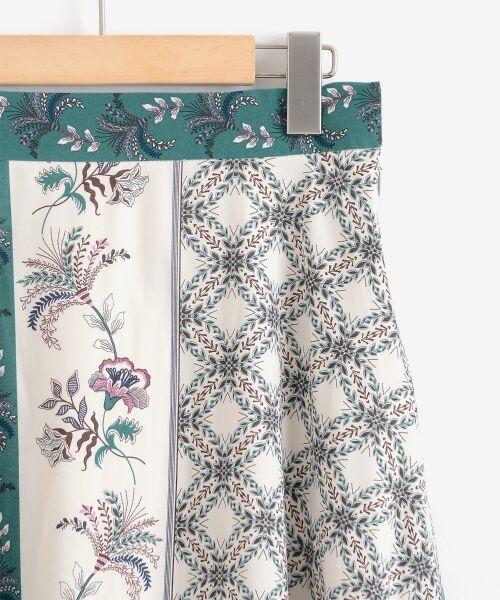 le.coeur blanc / ルクールブラン ミニ・ひざ丈スカート | フラワーパネルプリントフレアスカート | 詳細2