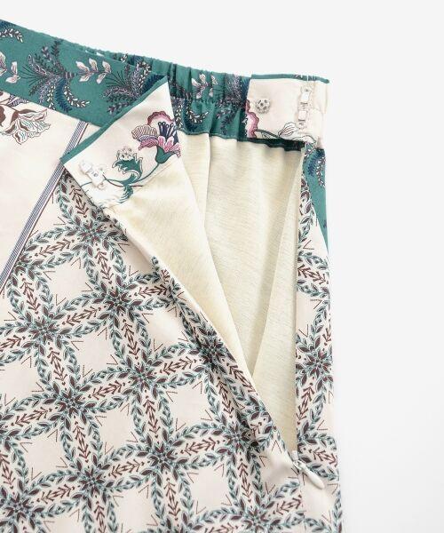 le.coeur blanc / ルクールブラン ミニ・ひざ丈スカート | フラワーパネルプリントフレアスカート | 詳細5