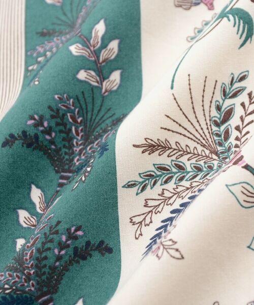le.coeur blanc / ルクールブラン ミニ・ひざ丈スカート | フラワーパネルプリントフレアスカート | 詳細7