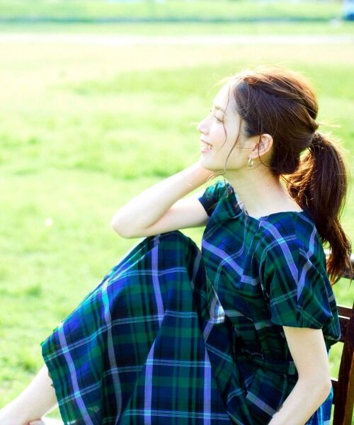 le.coeur blanc / ルクールブラン ロング・マキシ丈ワンピース | チェックロングワンピース | 詳細10