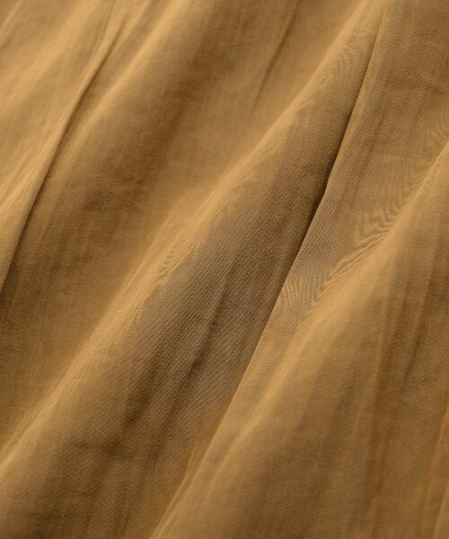 le.coeur blanc / ルクールブラン ロング・マキシ丈ワンピース | サテンギャザーロングワンピース | 詳細6