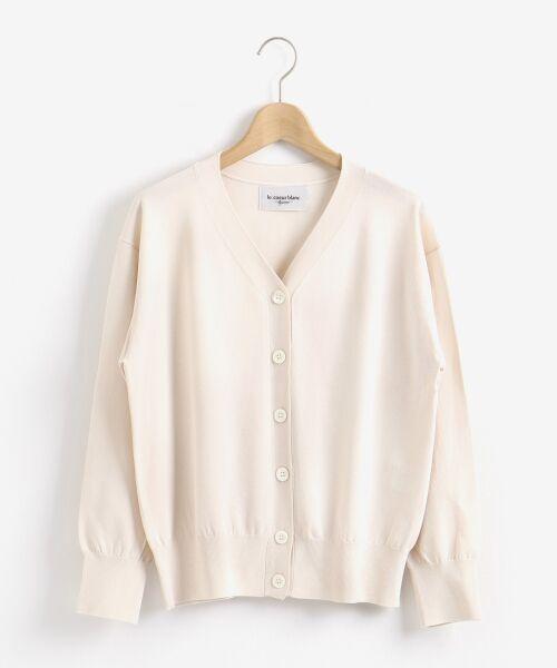 le.coeur blanc / ルクールブラン ニット・セーター | ハイゲージVネックカーディガン | 詳細8