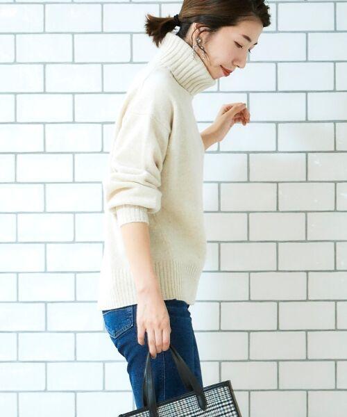 le.coeur blanc / ルクールブラン ニット・セーター | ラムタートルニット | 詳細10