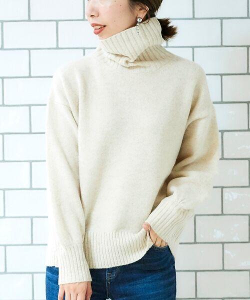 le.coeur blanc / ルクールブラン ニット・セーター | ラムタートルニット | 詳細15