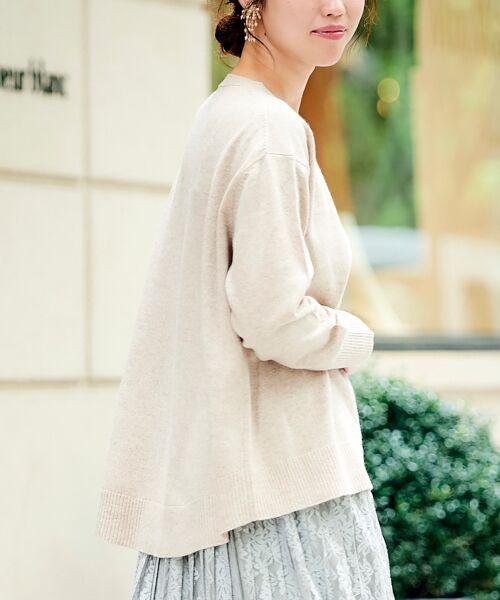 le.coeur blanc / ルクールブラン ニット・セーター | AQUA ウールカシミヤVネックニット | 詳細9