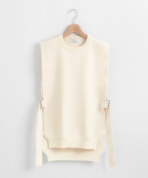le.coeur blanc / ルクールブラン ニット・セーター | dunadixサイドベルトニットベスト(ホワイト)