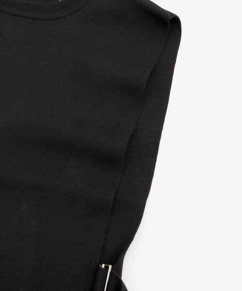 le.coeur blanc / ルクールブラン ニット・セーター | dunadixサイドベルトニットベスト | 詳細3