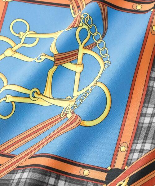 le.coeur blanc / ルクールブラン バンダナ・スカーフ | チェック柄×ハーネス柄スカーフ | 詳細3