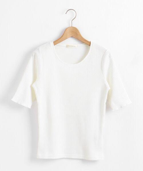le.coeur blanc / ルクールブラン カットソー | テレコワイドリブ5分袖カットソー | 詳細10