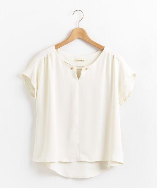 le.coeur blanc / ルクールブラン シャツ・ブラウス | メタルパーツフレンチブラウス(オフ)
