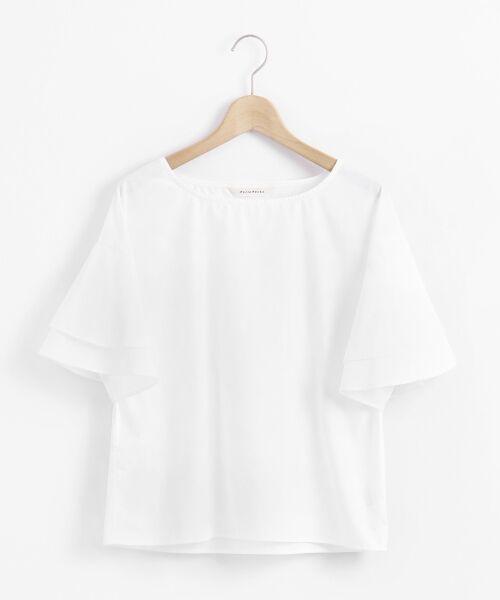 le.coeur blanc / ルクールブラン シャツ・ブラウス | コットンフレアスリーブブラウス(オフ)