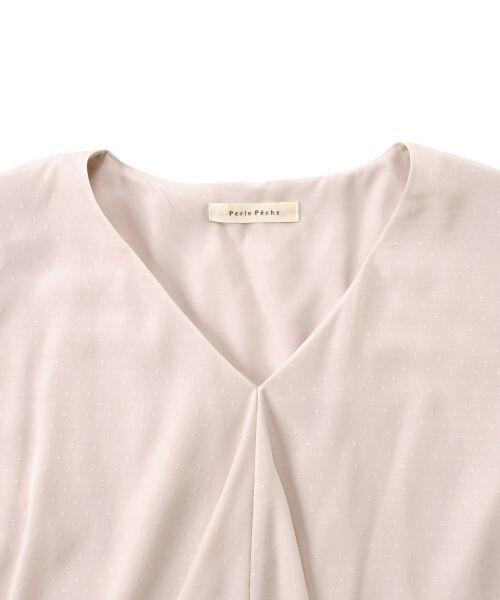 le.coeur blanc / ルクールブラン シャツ・ブラウス | ドットフロントフレアフレンチブラウス | 詳細2