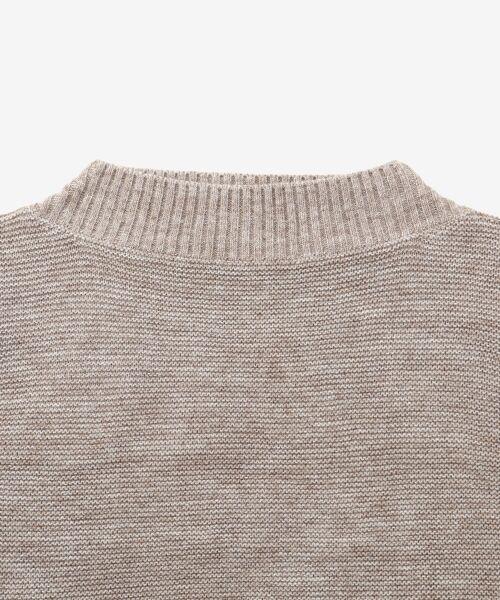 le.coeur blanc / ルクールブラン ニット・セーター | ガーター編みボートネックニット | 詳細2