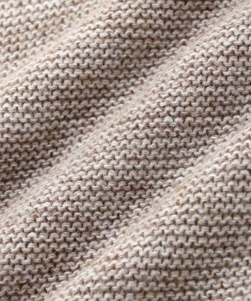 le.coeur blanc / ルクールブラン ニット・セーター | ガーター編みボートネックニット | 詳細4