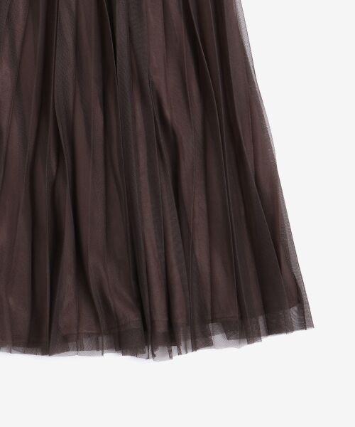 le.coeur blanc / ルクールブラン ロング・マキシ丈スカート | チュールプリーツ×サテンギャザーリバースカート | 詳細3