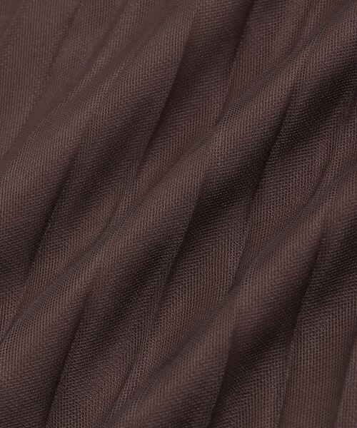 le.coeur blanc / ルクールブラン ロング・マキシ丈スカート | チュールプリーツ×サテンギャザーリバースカート | 詳細5