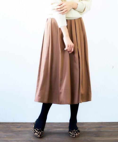le.coeur blanc / ルクールブラン ミニ・ひざ丈スカート | マイクロスパンタックギャザースカート | 詳細17