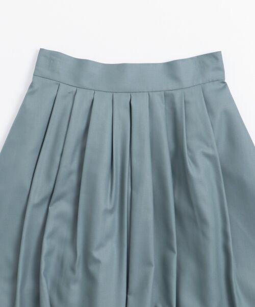 le.coeur blanc / ルクールブラン ミニ・ひざ丈スカート | マイクロスパンタックギャザースカート | 詳細2