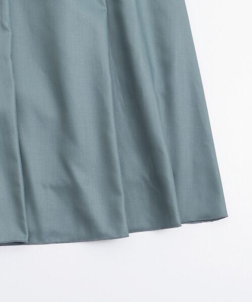 le.coeur blanc / ルクールブラン ミニ・ひざ丈スカート | マイクロスパンタックギャザースカート | 詳細4