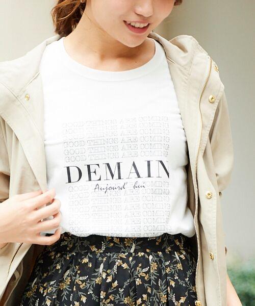le.coeur blanc / ルクールブラン Tシャツ | DEMAIN Tシャツ(オフ/柄)