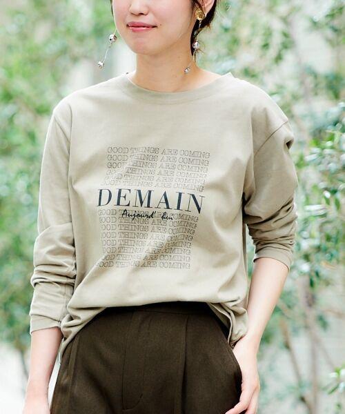 le.coeur blanc / ルクールブラン Tシャツ | DEMAIN Tシャツ(ベージュ柄)